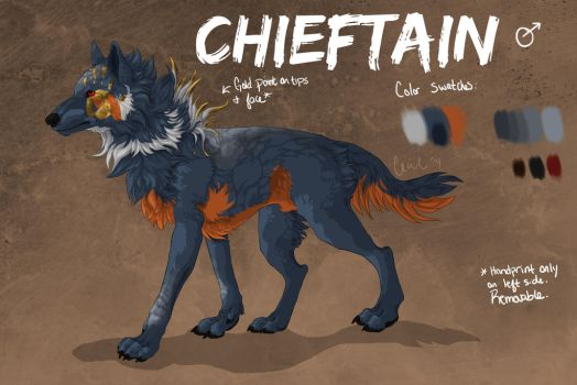 Chieftain (OC) Reference by QueenAphie