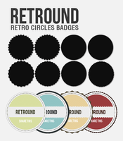 Retround - Retro Circles Badge by CarlosViloria