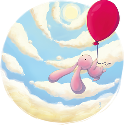 Bunny in the sky by Michiyo63