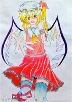 Touhou Project: Flandre Scarlet by Lupinalia