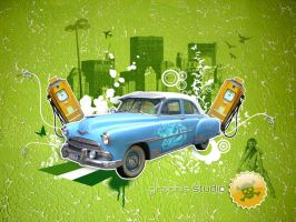 Vintage car by studiographis