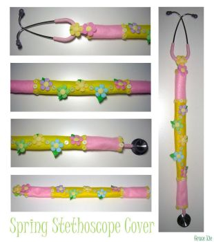 Spring Stethoscope Cover by bluebluerain