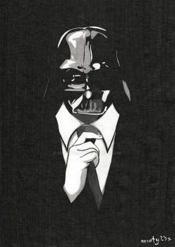 Darth Vader in suit by monty23x by monty23x