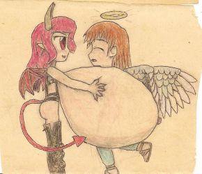 angel and succubus (2) by JofDragon