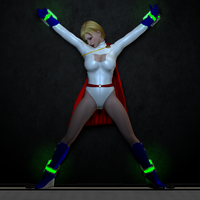 Power Girl Captured 18f: Back to the Cell by DarkPoserGirl