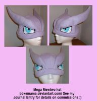 Mega Mewtwo hat by PokeMama