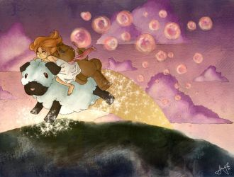 Blowing Sunset Bubbles by Amyln
