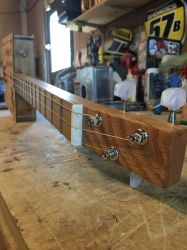 Sweet Apple Acres Cigar Box Guitar 2nd look by DustyPony