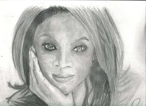Tyra  Banks by DonnelliaIizsilent