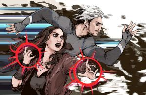 Maximoff Twins by beanclam