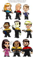 Star Trek: TNG Chibis by heymatt