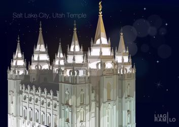 Salt Lake City, Utah Temple by liagiannjezreel