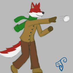 Throwing a Snowball X3 by Alraio