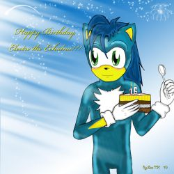 Happy Birthday,ElectroTE by lizathehedgehog