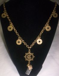 Bottle and Coins Necklace by TheBrassApple