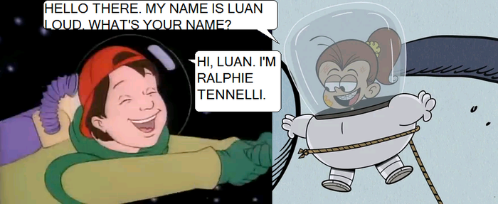 Ralphie meets Luan Loud in Space by GuiherCharly