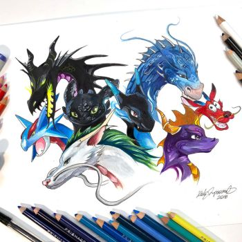 25- My Favorite Dragons by Lucky978