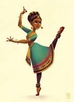 Indian Dancer - Character Design Challenge by AlyssaTallent