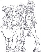 The Chipettes by artattackrat