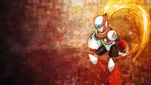 Megaman wallpaper - Zero by umi-no-mizu
