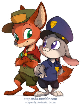 Nick Wilde and Judy Hopps by StePandy