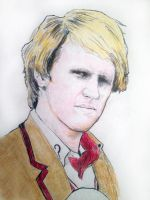 Peter Davison as the Fifth Doctor by filmshirley