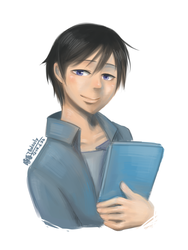 Those days_Steven holding a book by aulauly7