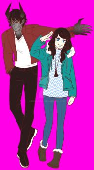 Vampire House Damien and FMC by StaticGirl22