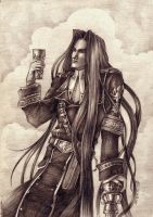 The Magician with a wineglass by Noldofinve