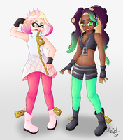 Splatoon 2 Pearl and Marina by IbbyWonder6