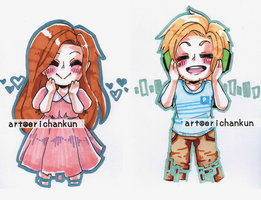 SUPER BELATED HBD PEWDS and MARZIA by erichankun