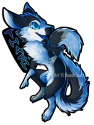 |C| Sakyubasu Chibi Badge by BeastySoul