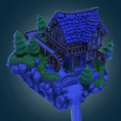 Isometric medieval house timelapse by LoserMcCrappyart