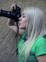 Platinum Girl With Camera by cherrybomb-81
