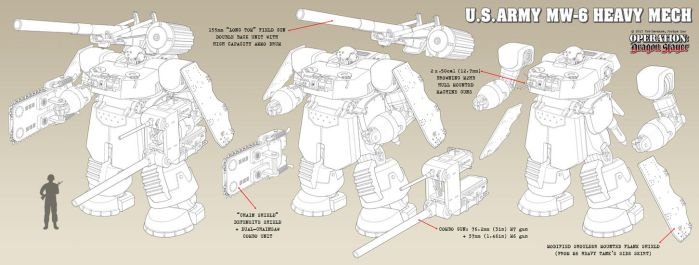M6 Heavy Mech - MAXED LOADOUT by Rob-Cavanna