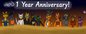 1 Year Anniversary Celebration! by Storm-berry