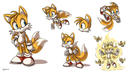 Tails Sketch Sheet by Heilos