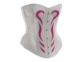 Corset Vic White Pink Tribal by Me-Se