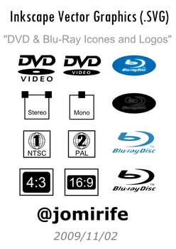 DVD, Blu-Ray Icones and Logos by jomirife