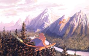 Charizard Valley by solartistic
