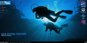 SAS Diving Center Web Interface Design by MAEDesign