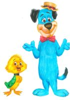 Huckleberry Hound and Yakky Doodle Duck by Hognatius