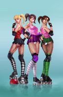 Roller Girls color by cehnot