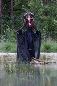 Stock - Gothic sea godess walking dress pose by S-T-A-R-gazer