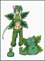 Gotta catch em all 002 Ivysaur - Gijinka by Silver-Lunne