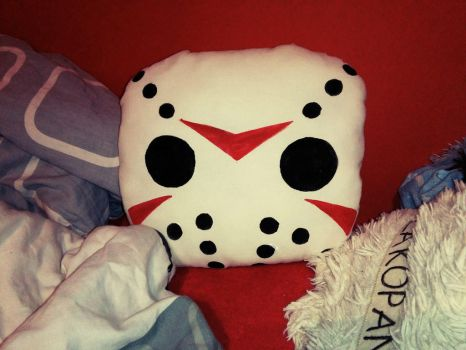 Jason Voorhees pillow by Adlain-Arts