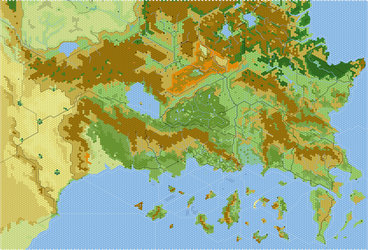 Known World south, rearranged by AdmundfortGeographer