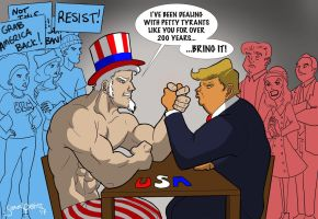 Arm Wrestle for America by TumbledHeroes