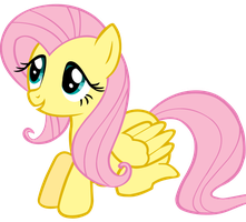 Fluttershy sitting looking cute by Scotch208