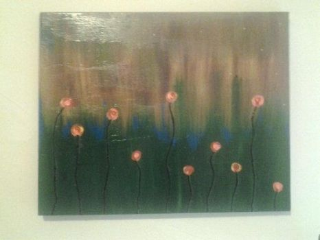 abstract flower painting by halogirlie